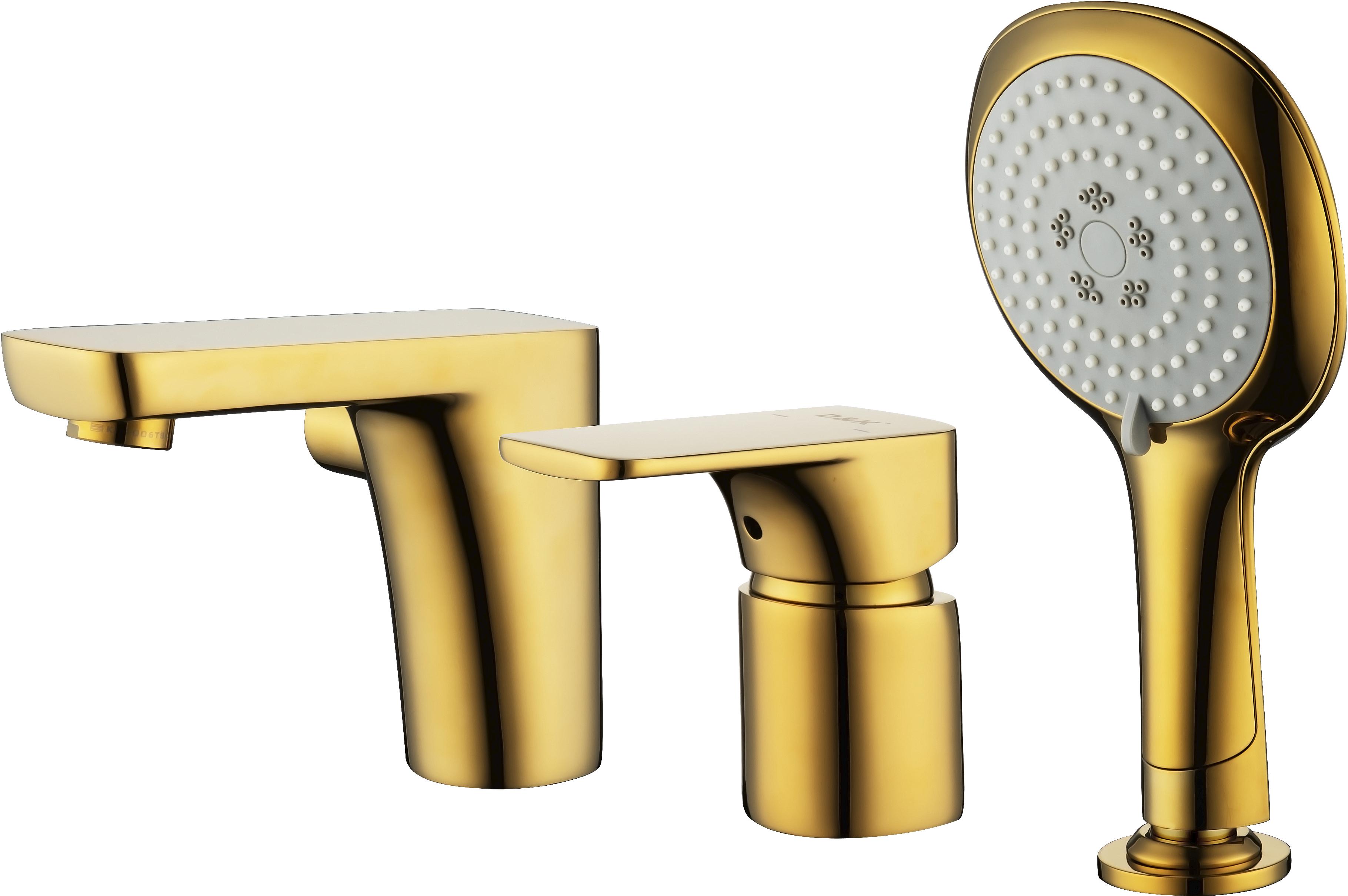 Смеситель на борт ванны D&K Berlin.Tourto DA1434903 врезной золото