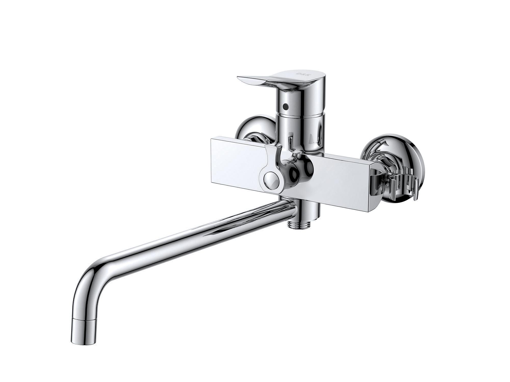 Смеситель для ванны с душем D&K Rhein.Mosel DA1263341 длинный излив хром