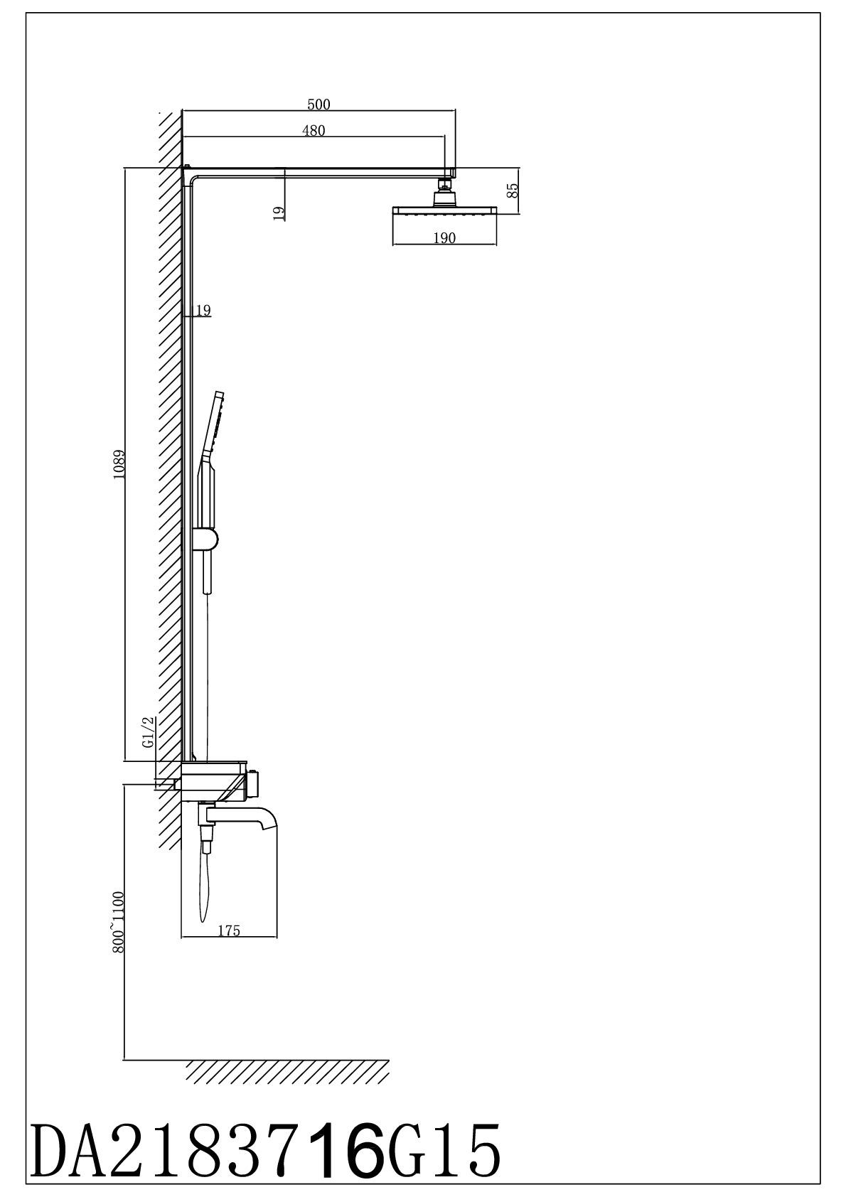 Душевая система D&K Bayern.Potsdam DA2183716G15 с термостатом хром