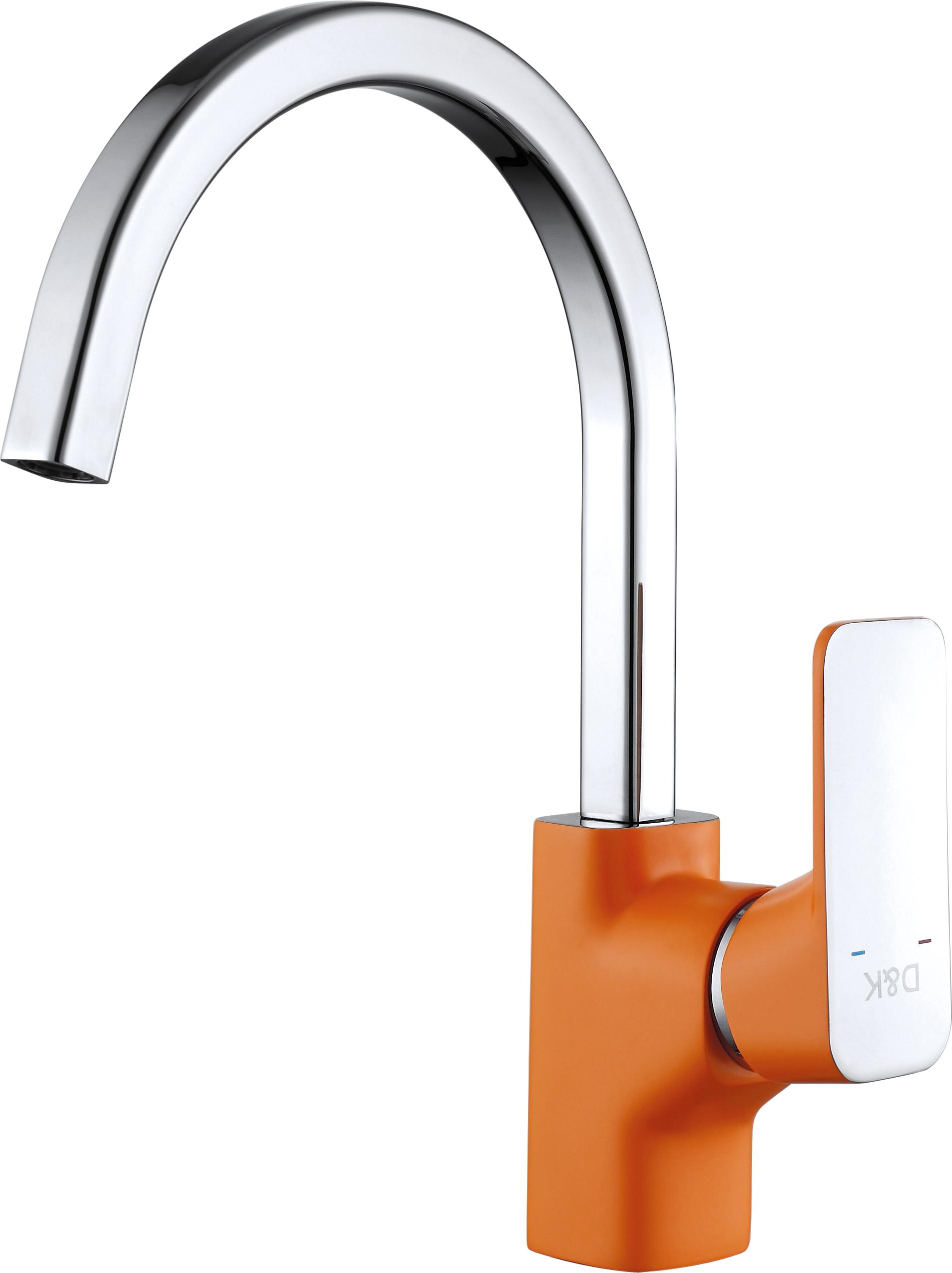 Смеситель для кухни D&K Berlin.Kunste DA1432413 высокий оранжевый-хром