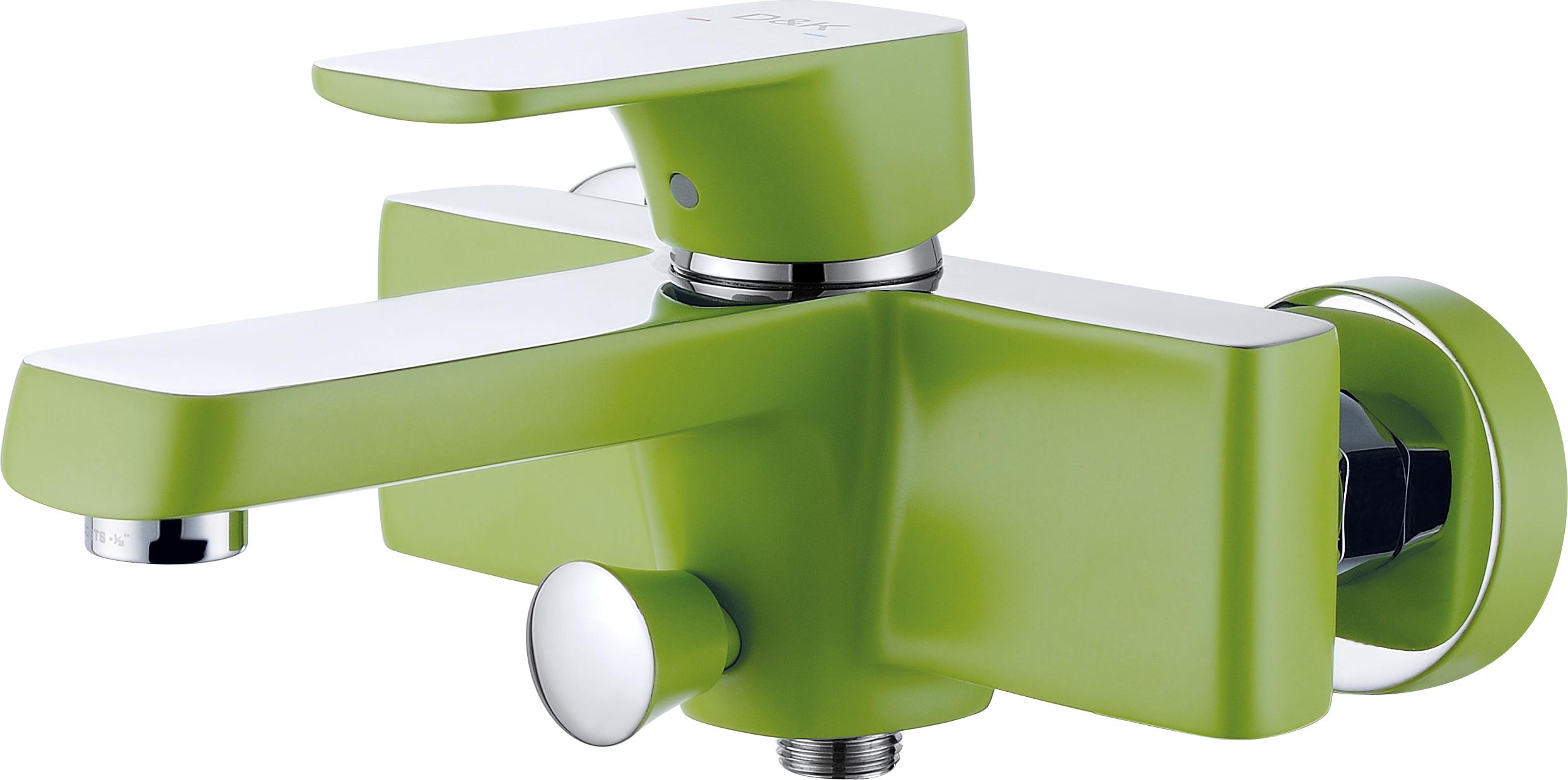 Смеситель для ванны с душем D&K Berlin.Humboldt DA1433212 короткий излив зеленый-хром