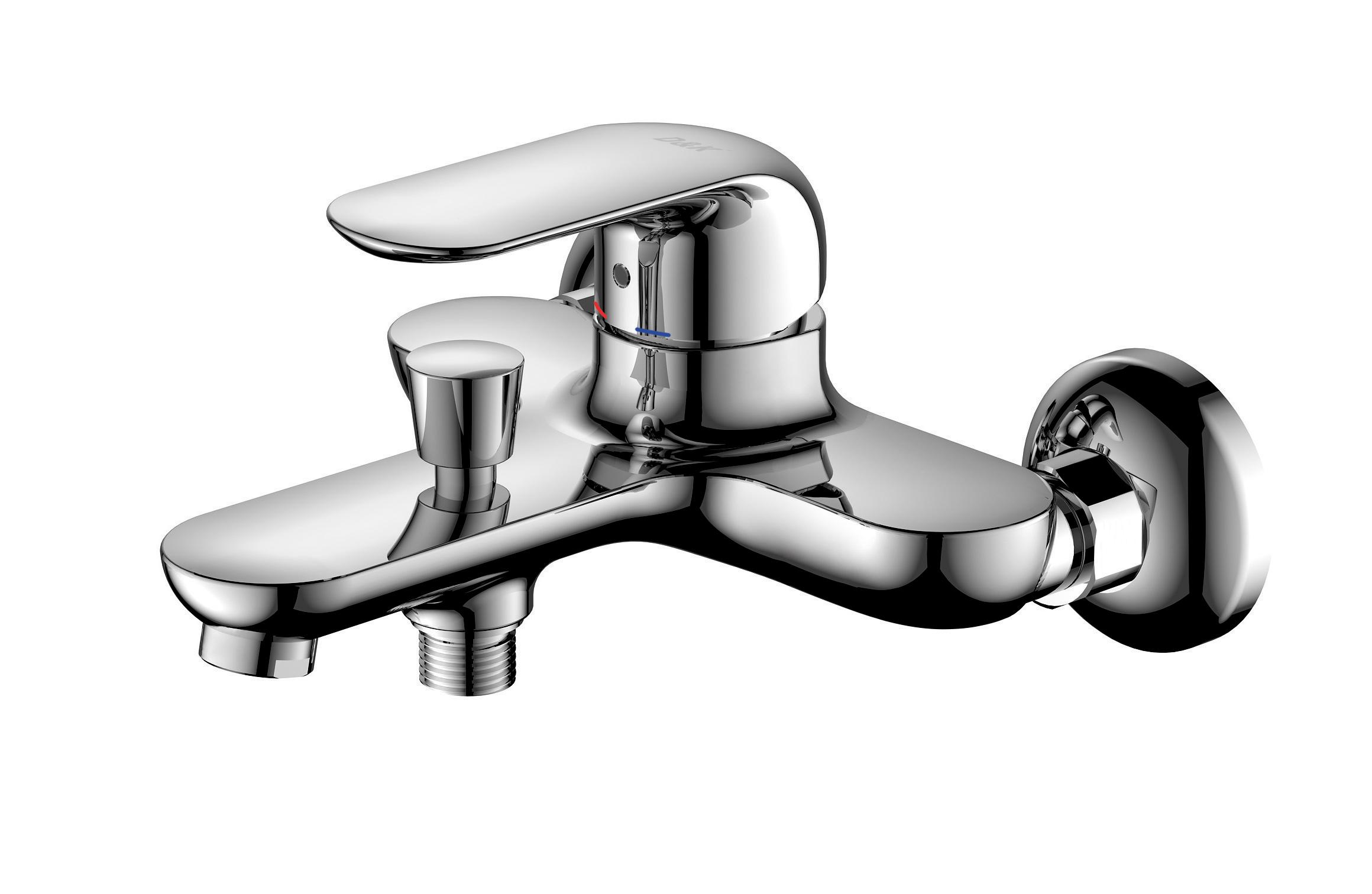 Смеситель для ванны с душем D&K Venice.Gondola DA1023201 короткий излив хром