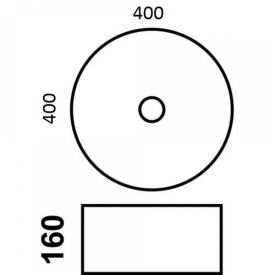 Раковина Melana White 800-7026BX (А003)