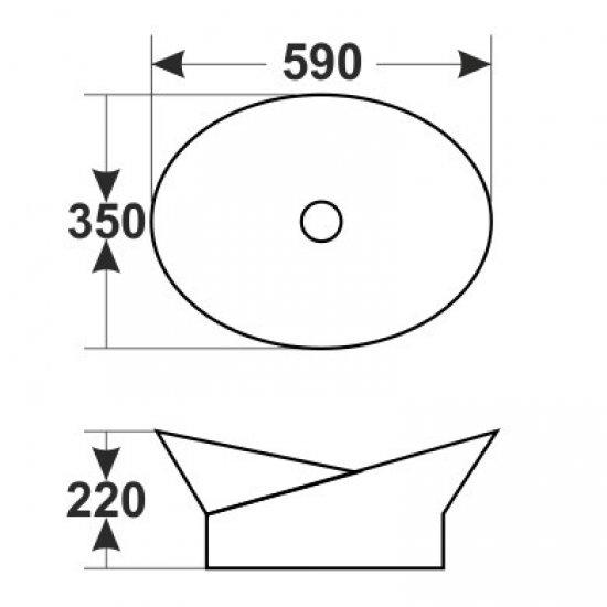 Раковина Melana 5P 800-7203