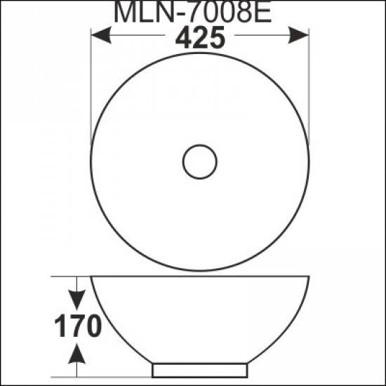 Раковина Melana 5P 800-7008Е (3065)
