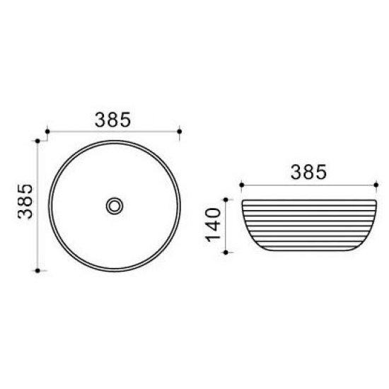 Раковина Melana Color 800-T4003H-B11+B20