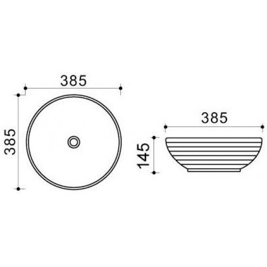 Раковина Melana Color 800-T4004-B6+B20