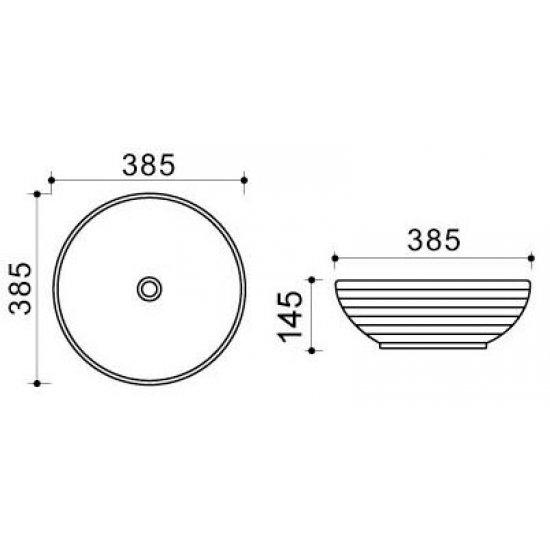 Раковина Melana Color 800-T4004-B9
