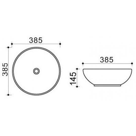 Раковина Melana Color 800-T4005-B1
