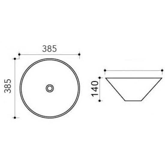 Раковина Melana Color 800-T4006-B8+B3