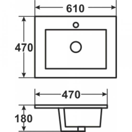 Раковина Melana 4M 800-8004-60 (А3060)