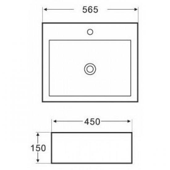 Раковина Melana 5P 800-7005А (2046)