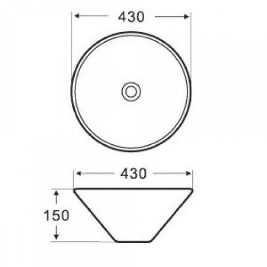 Раковина Melana 5P 800-7020 (3067)
