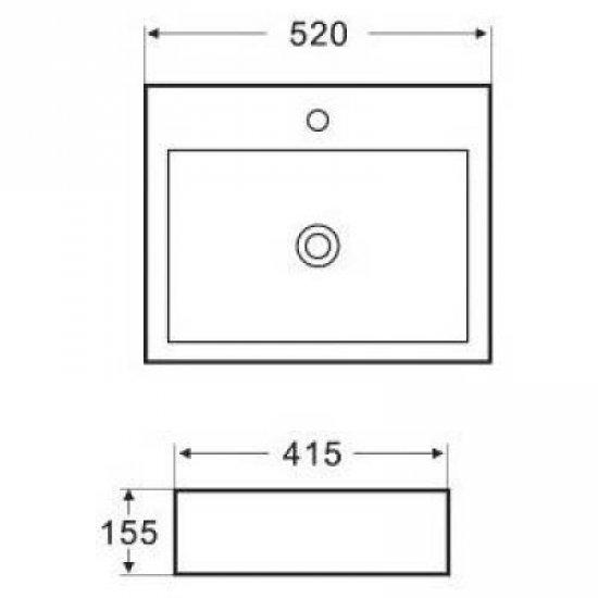 Раковина Melana 5P 800-7033 (2073)
