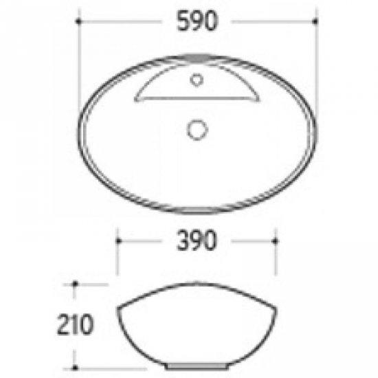 Раковина Melana 5P 800-7167 (3073)