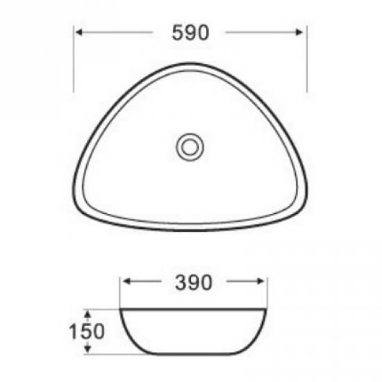 Раковина Melana 5P 800-7472B (1030)