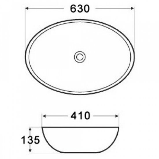 Раковина Melana 5P 800-7686 (3077)