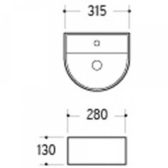 Раковина Melana 5P 800-7781 (А262)