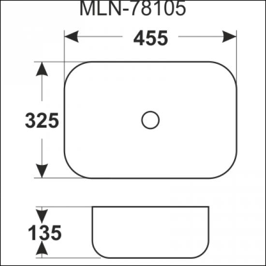 Раковина Melana 5P 800-78105