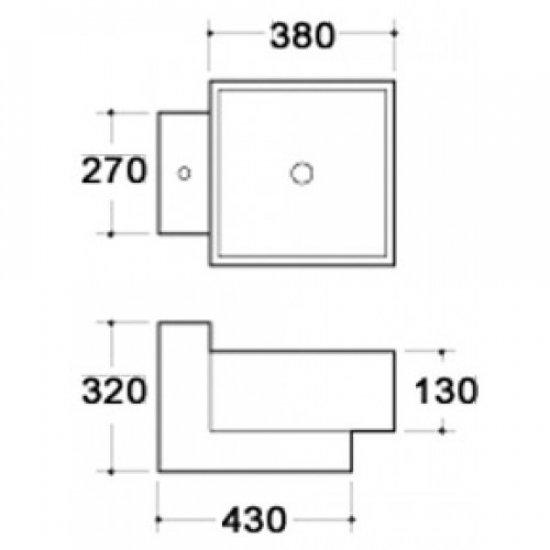 Раковина Melana 5P 800-7899 (5016)