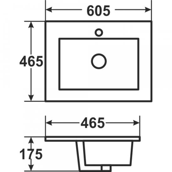 Раковина Melana 5P 800-9060D