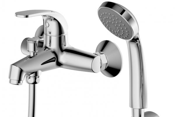 Смеситель для ванны короткий излив BRAVAT Fit F6135188CP-B-RUS