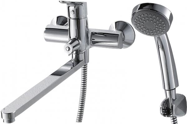 Смеситель для ванны длинный излив BRAVAT Drop F64898C-LB