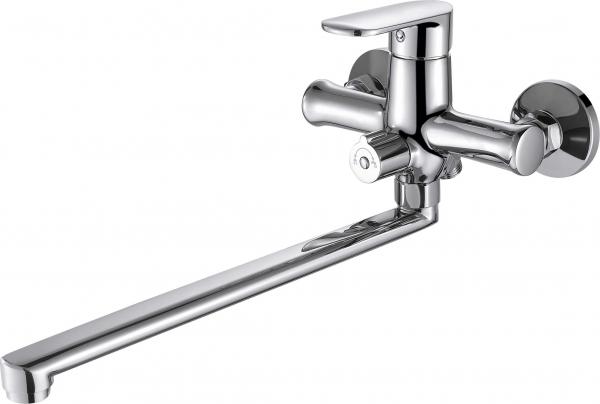 Смеситель для ванны длинный излив BRAVAT Opal F6125183CP-02L-RUS