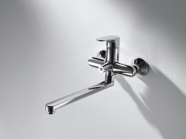 Смеситель для ванны длинный излив BRAVAT Alfa F6120178CP-01L