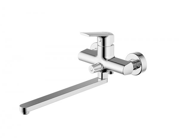 Смеситель для ванны длинный излив BRAVAT Real F6121179CP-01L