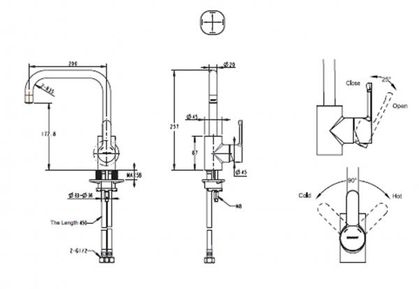 Смеситель для кухни BRAVAT Stream F73783C-1A