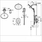 Душевой комплект BRAVAT Gina F865104C-A-ENG