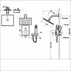 Душевой комплект BRAVAT Phillis F856101C-A-ENG