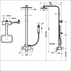 Душевая колонна BRAVAT Phillis F956101C-A-ENG